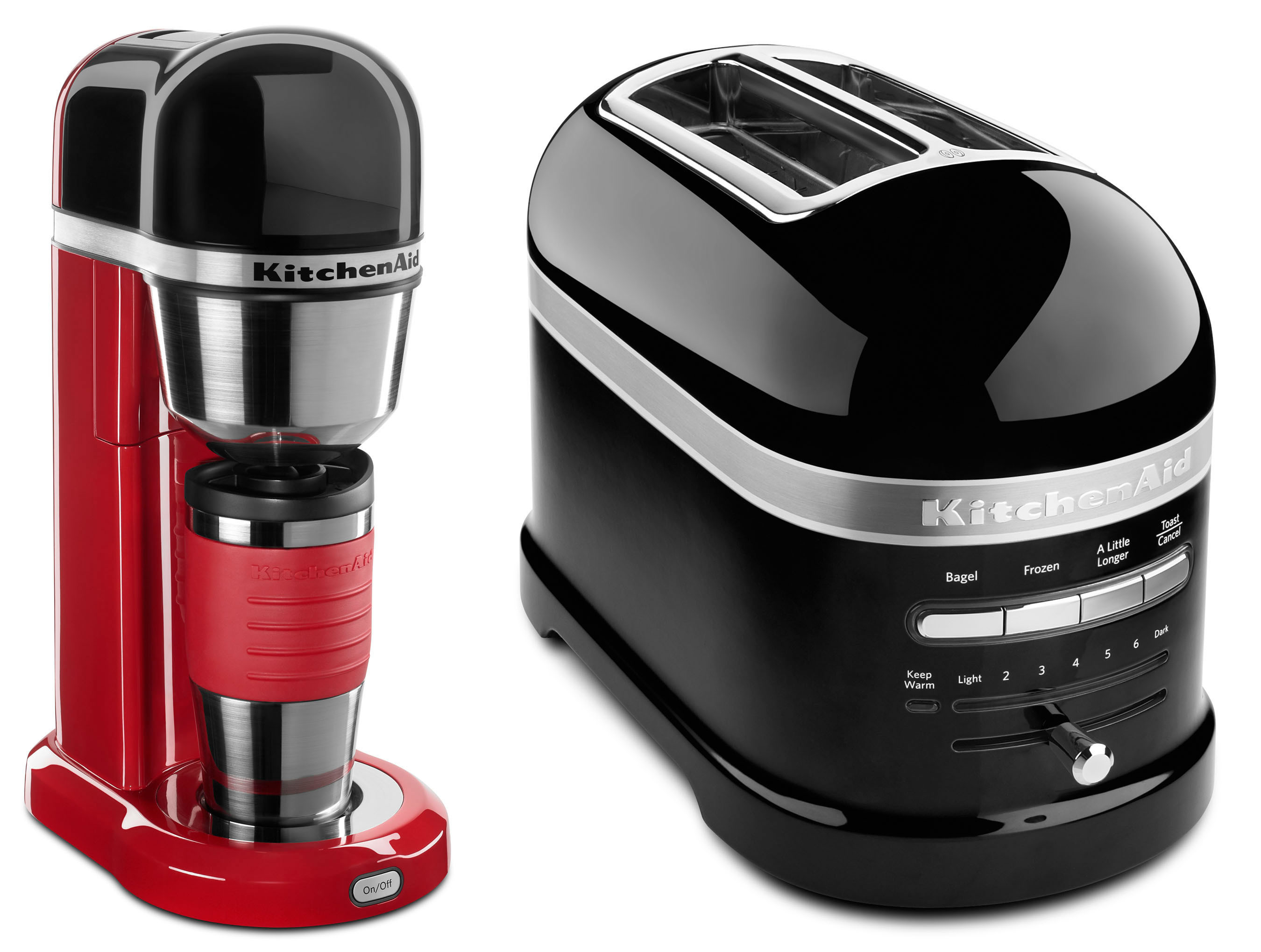KITCHENAID PERSONAL COFFEE MAKER AND PRO LINE TOASTER