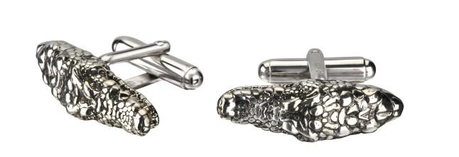 Cocodrilo Cufflinks in Silver