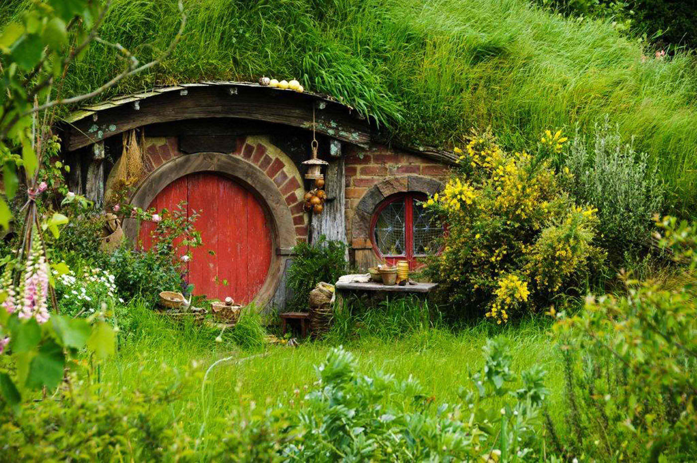 Crystal's exclusive dinner at the Hobbiton movie set in New Zealand  includes visiting 'Hobbit Holes'  i.e., Hobbit homes build into hills