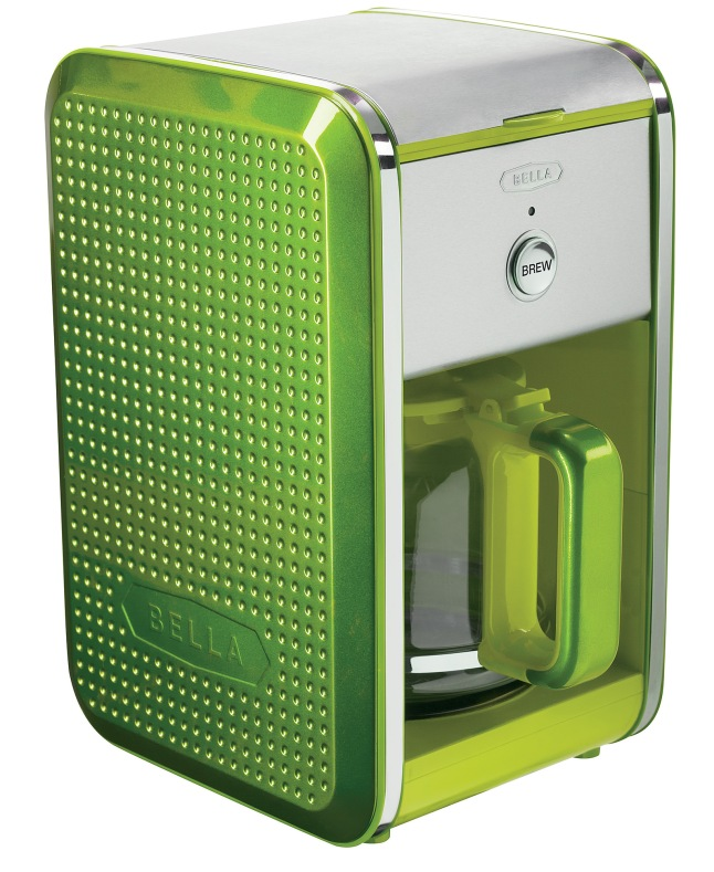 Bella Dots Coffee Maker Lime Green