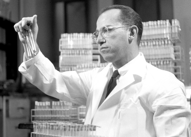 Dr. Jonas Salk in lab, 1954