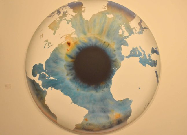 "Marc Quin, ""The Eye of History (Atlantic Perspective) Ice Age 1"", 2012, Oil on Canvas, Gallery: White Cube"