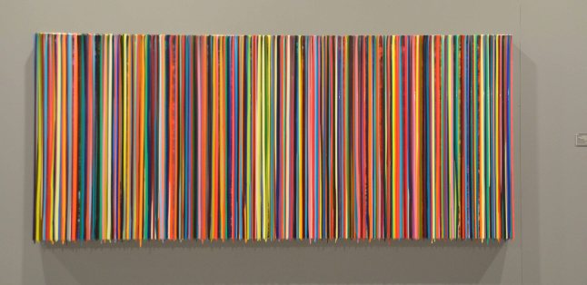 Markus Linnebrink, therearethreewaysofdoingthings, 2012, Pigments and Epoxy Resin on Wood, $28,000
