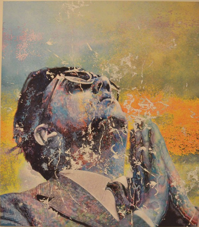 "Makoto Saito, ""Prayer (Yellow)"", 2011-2012, Acrylic and Oil Ink on Canvas, Gallery: Paul Kasmin Gallery"