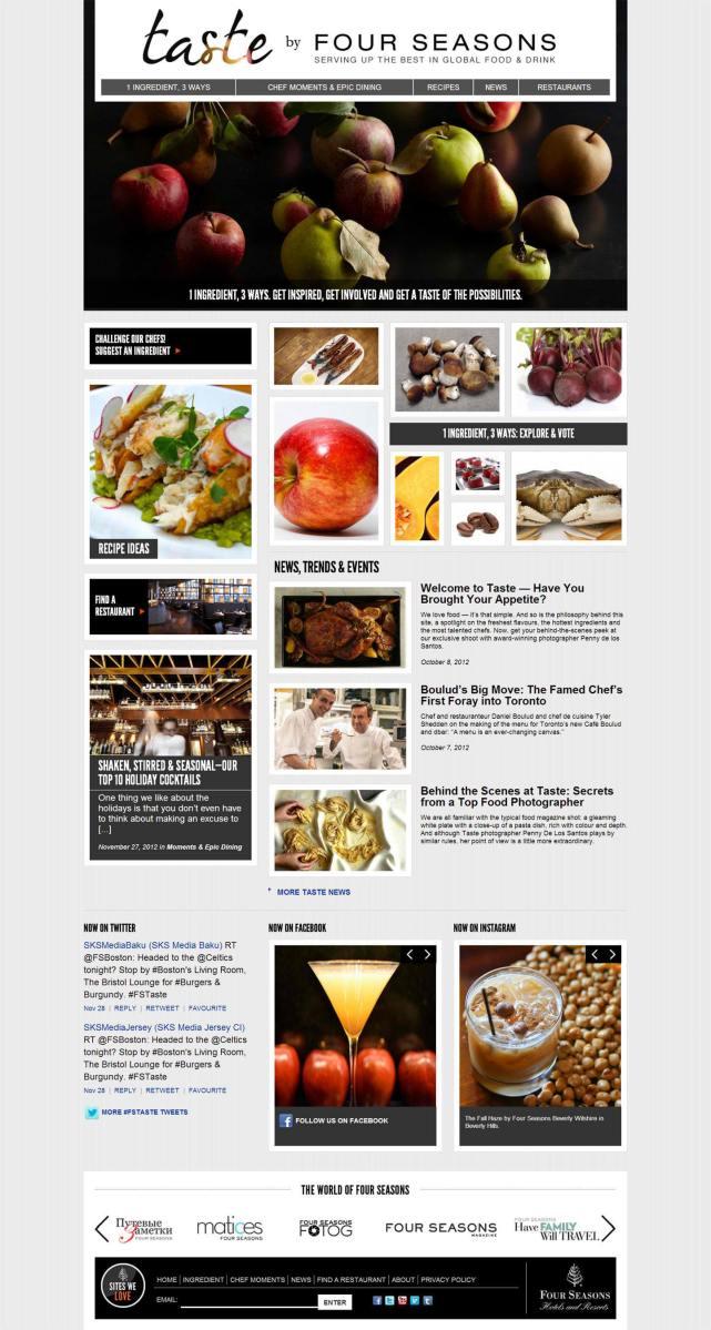 www.taste.fourseasons.com screenshot