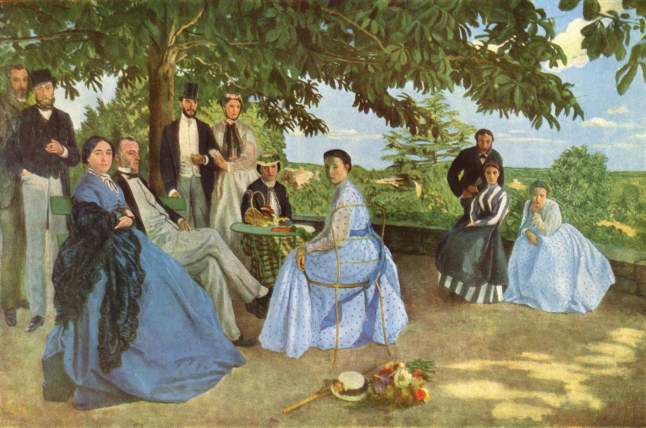 Frederic BAZILLE's Family Reunion (1867)