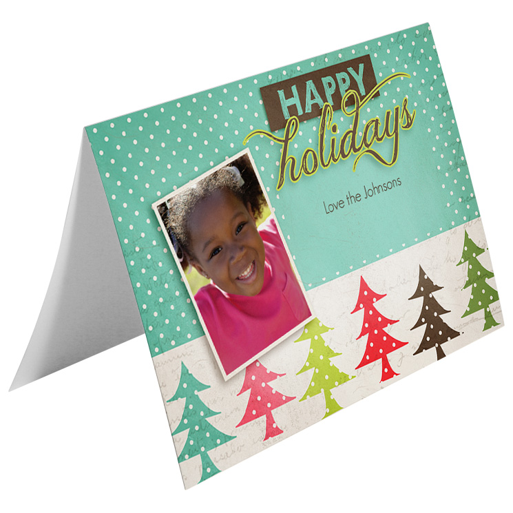 sample holiday card christmas bow by office depot officemax - Office Depot Christmas Cards
