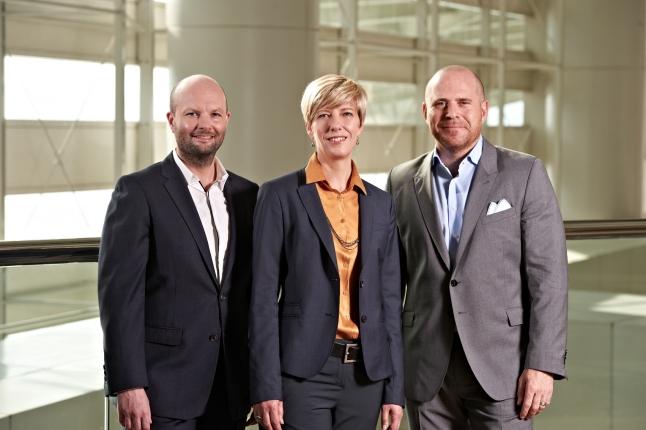 Magnus Renfrew, Director Asia, Art Basel, Annette Schönholzer & Marc Spiegler Art Basel co-Directors Courtesy Art Basel