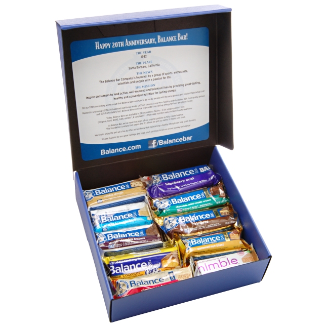 BALANCE BAR 20TH ANNIVESARY HEALTHY HOLIDAY GIFT ASSORTMENT