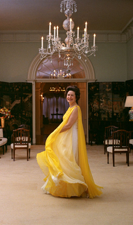 Portrait of Lady Bird Johnson at the White House