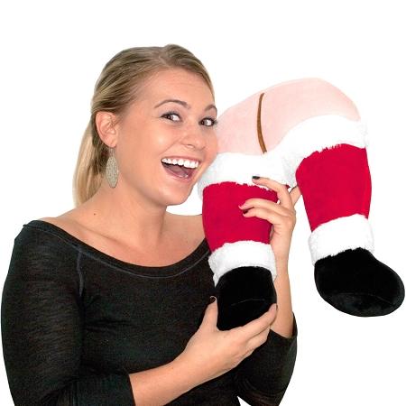 Santa's Farting Butt Travel Pillow