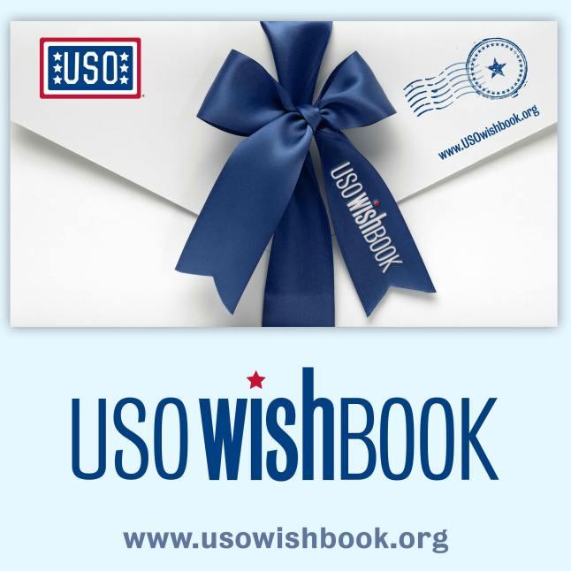 Support our troops this holiday season. Visit usowishbook.org.