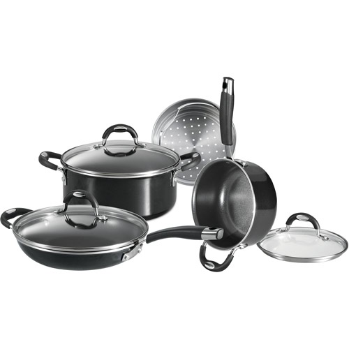 Tramontina All Generations 7-Piece Non-stick Cookware Set, Black Enamel