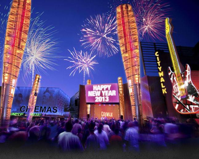 Universal CityWalk Rings in 2013 with Annual New Year's Eve Celebration