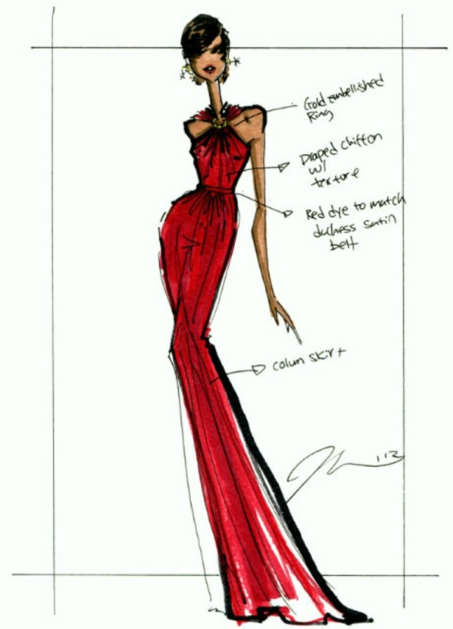 Original Sketch from Jason Wu