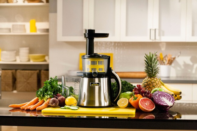 BELLA introduces the NutriPro cold press juicer.  BELLA NutriPro's technology provides more juice, more nutrients and great taste.  BELLA NutriPro is now available at Macy's and JCP stores nationwide, and will soon also be available through TV for a suggested retail price of $249.99. For more information, please visit www.NutriProJuicer.com.  (PRNewsFoto/BELLA NutriPro)
