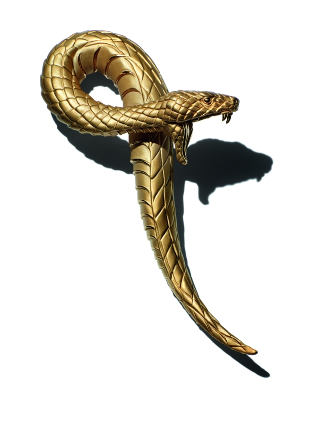 Carrera y Carrera SERPIENTE Maxi Snake Pendant Sculpture in Yellow Gold
