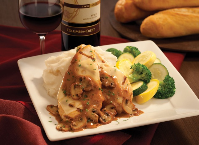 Chicken Madeira offered on Mimi's Cafe's romantic three-course Valentine's Menu for two from February 7-17, 2013.  (PRNewsFoto/Mimi's Cafe)