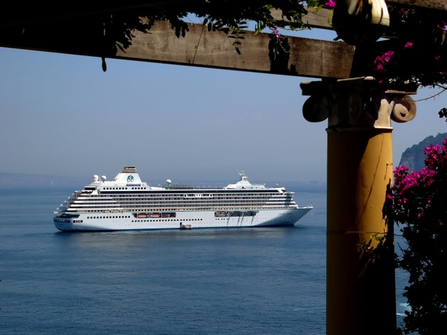 Crystal Cruises' 2013 savings offers include multiple deals for Mediterranean sailings.  Pictured here, Crystal Serenity in Portofino.  (PRNewsFoto/Crystal Cruises)