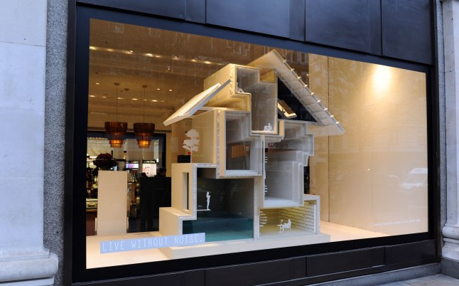 LONDON, UNITED KINGDOM - JANUARY 10: Selfridges presents it's No Noise ' window displays as part of 'No Noise' at Selfridges on January 10, 2013 in London, England. (Photo by Stuart Wilson/Getty Images for Selfridges)