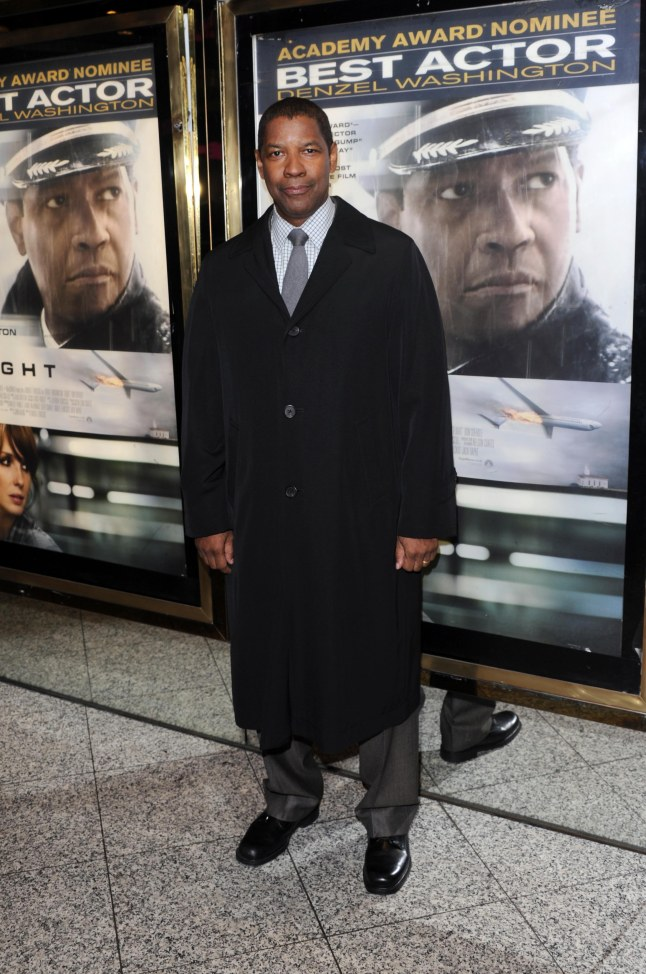 LONDON, UNITED KINGDOM - JANUARY 17: Denzel Washington attends the UK Film Premiere of 'Flight' at the Empire Leicester Square on January 17, 2013 in London, England. (Photo by Stuart Wilson/ImageNet)