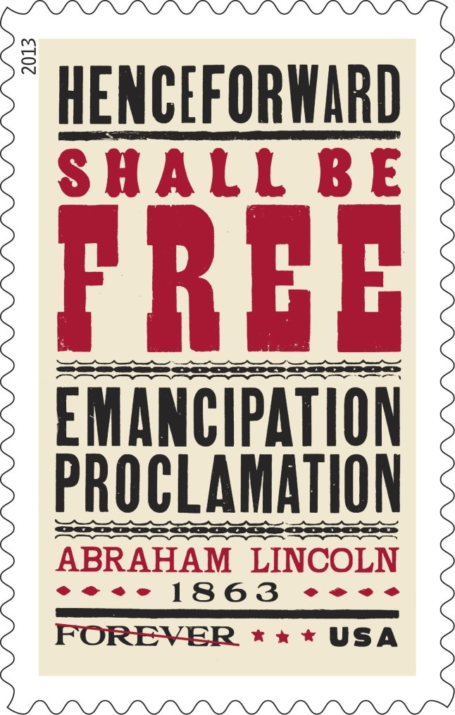 Emancipation Proclamation Limited Edition Forever Stamp