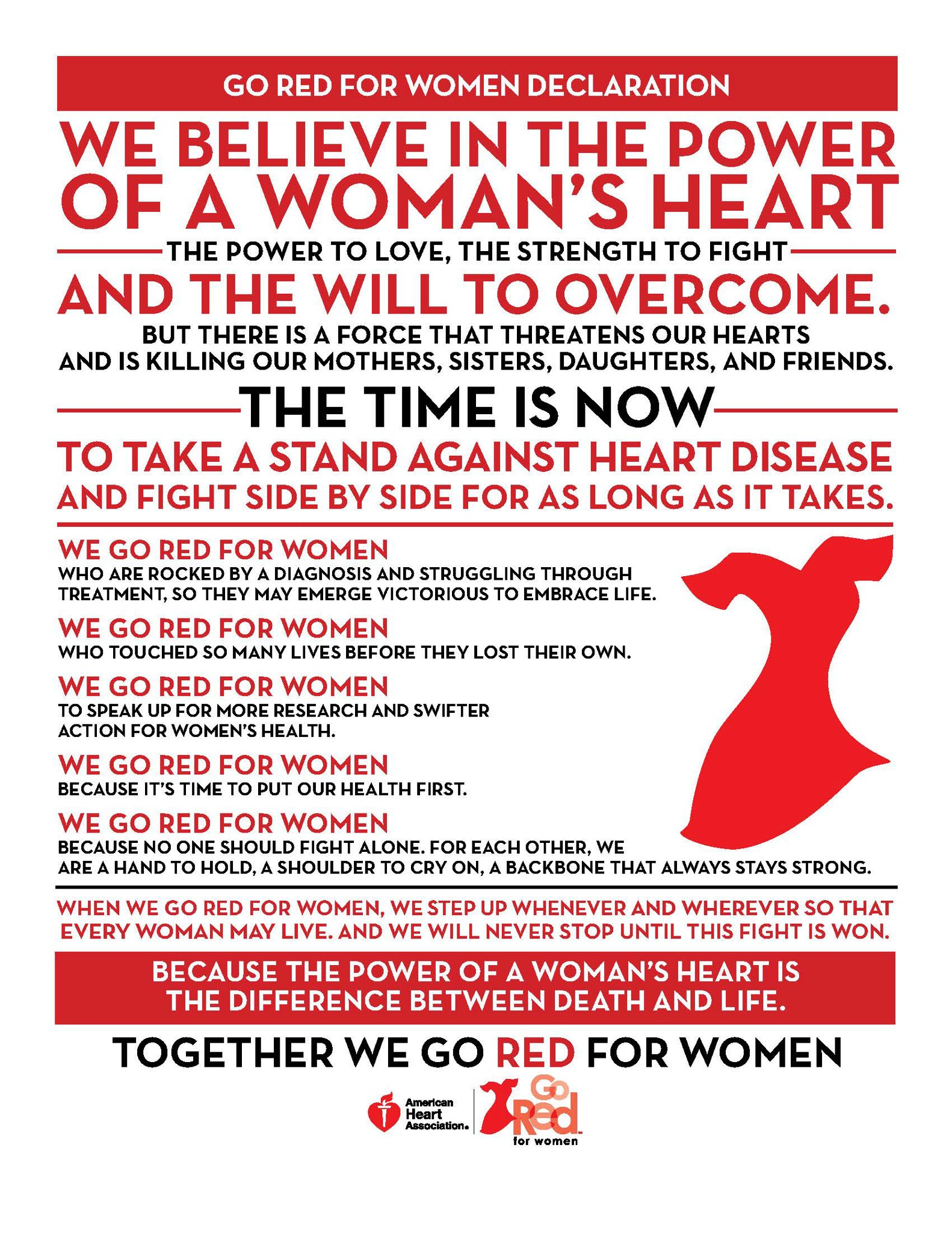 GO RED for women in February - The Collegiate Live  |For Heart Month Wear Red
