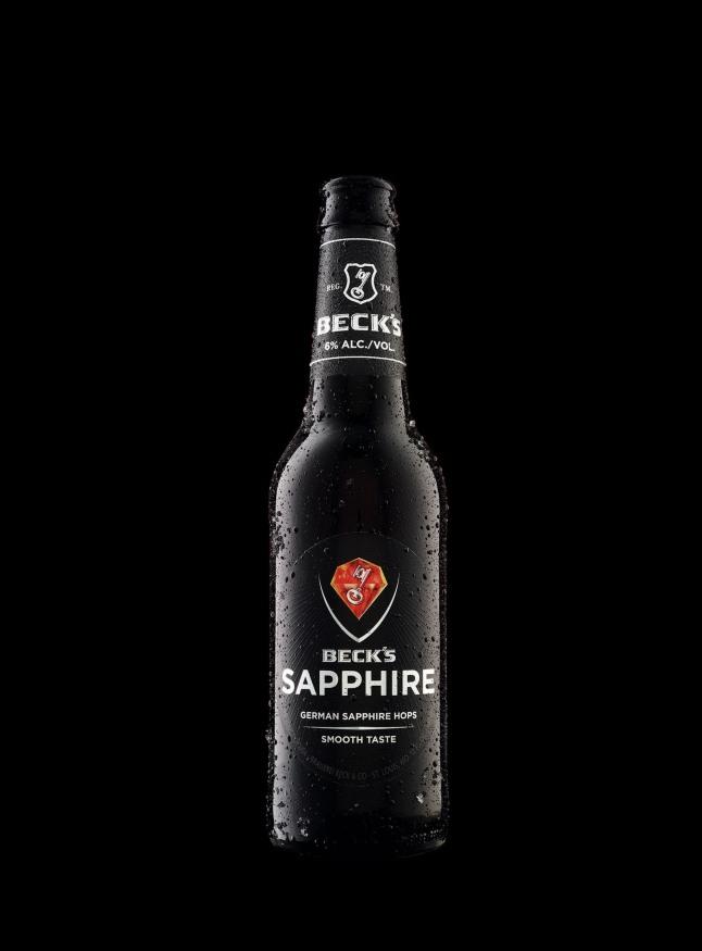 Introducing Beck's Sapphire, a new pilsner made smooth with German Sapphire hops.  (PRNewsFoto/Beck's)