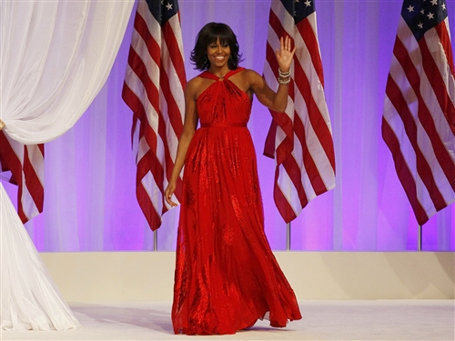 First Lady of the United States Michelle Obama in Jason Wu. (Ricky Wilking/Reuters)