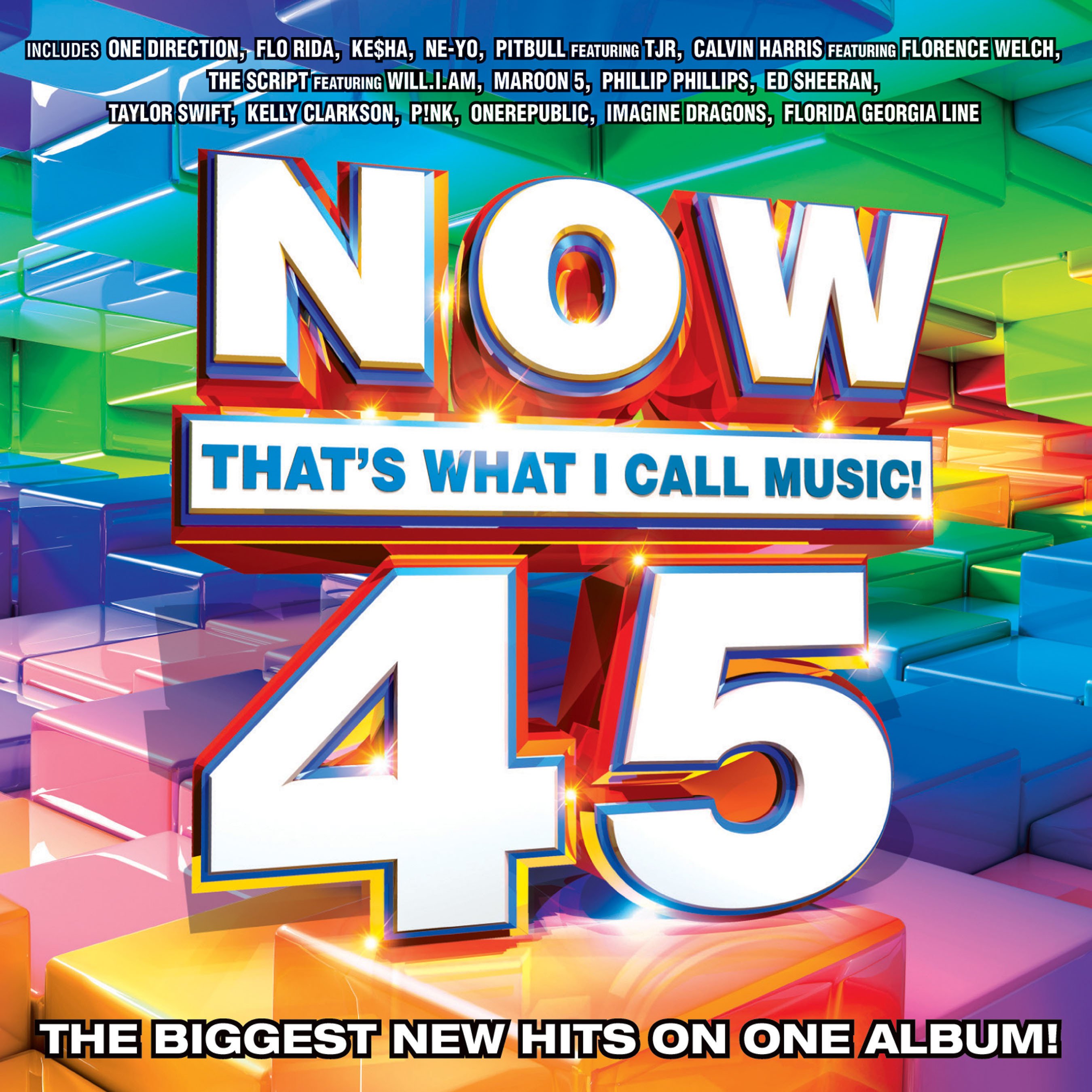 """The world's best-selling, multi-artist album series, NOW That's What I Call Music!, has gathered today's biggest hits for NOW That's What I Call Music! Vol. 45, to be released February 5. NOW 45 will be available on CD and for download purchase from all major digital service providers. NOW That's What I Call Music! Vol. 45 features 16 major current hits from today's hottest artists, plus four free up-and-coming """"NOW What's Next"""" New Music Preview tracks. www.nowthatsmusic.com.  (PRNewsFoto/EMI Music / Sony Music Entertainment / Universal Music Group)"""