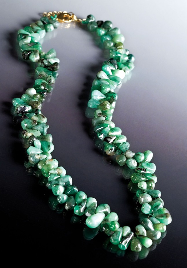 Stauer's Cayman Emerald Necklace, $79 available at www.stauer.com.  (PRNewsFoto/Stauer Jewelry)