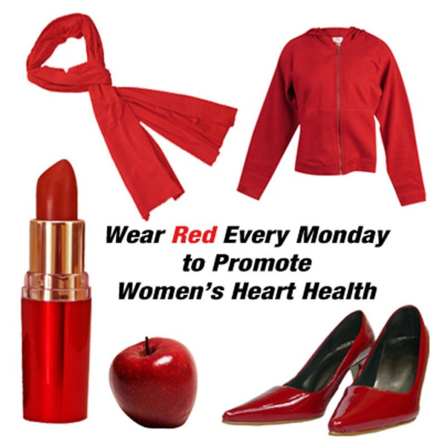 The Healthy Monday initiative urges Americans to go beyond Go Red Day and sport something red every Monday to maintain awareness of heart health.  Healthy Monday offers 52 weekly tips on Facebook.com/HealthyMonday and Twitter.com/HealthyMonday to help individuals take small steps towards a healthier lifestyle.  (PRNewsFoto/The Monday Campaigns)