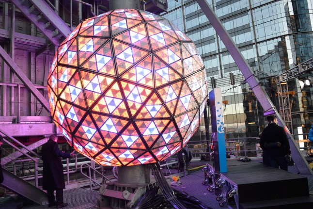 "NEW YORK, NY - DECEMBER 30: ""Waterford Crystal Ball"" for countdown event at Times Square on December 30, 2012 in New York City. (Photo by Eugene Gologursky/Getty Images)"