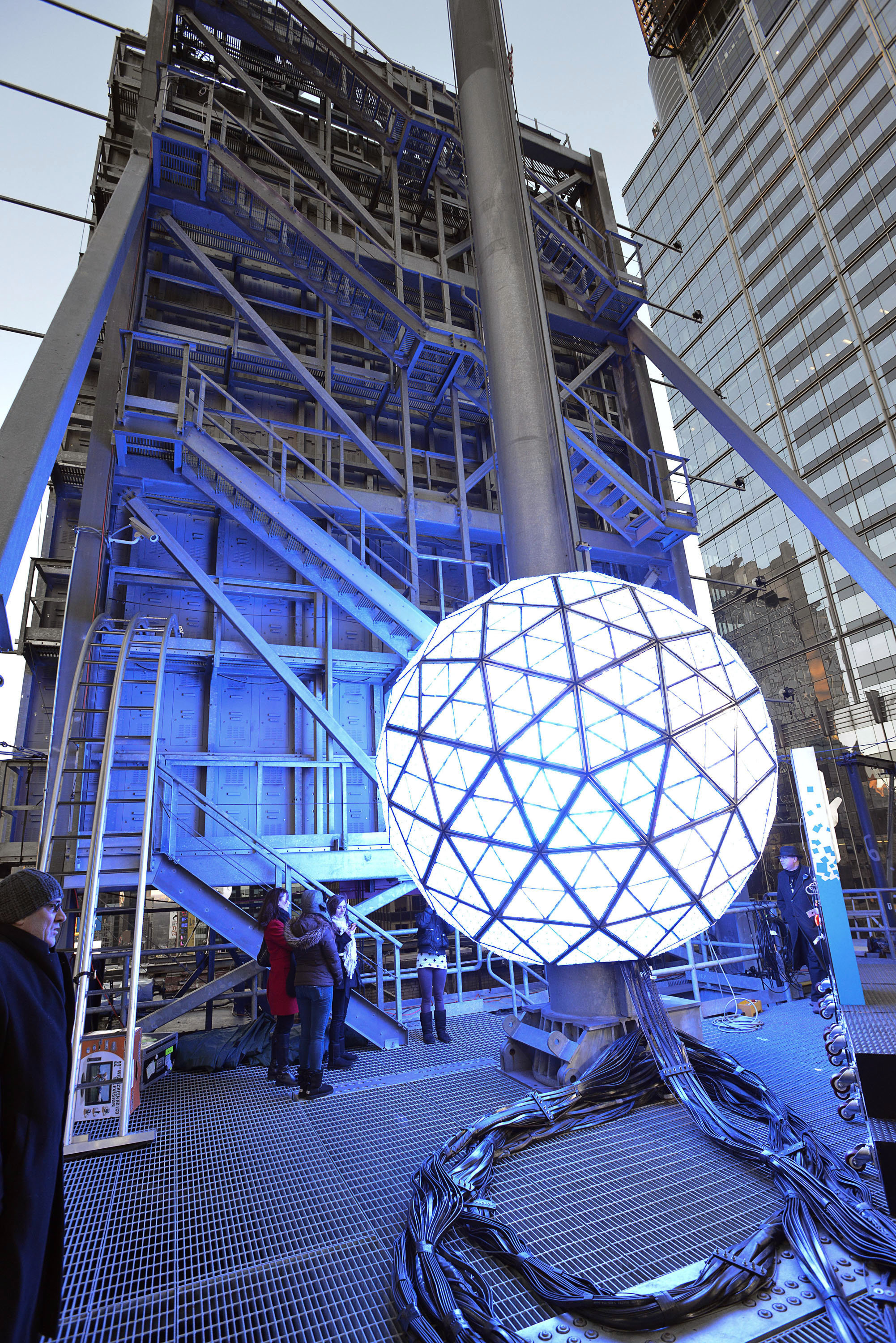 """NEW YORK, NY - DECEMBER 30: """"Waterford Crystal Ball"""" for countdown event at Times Square on December 30, 2012 in New York City. (Photo by Eugene Gologursky/Getty Images)"""