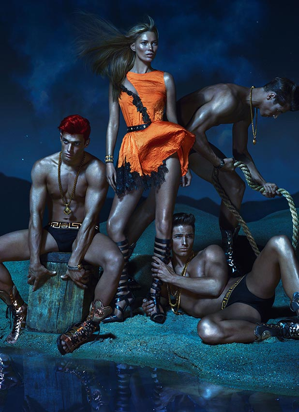 Kate Moss in Versace  Spring 2013 Campaign