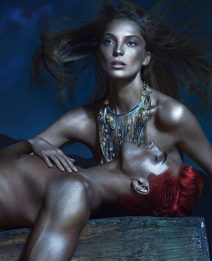 Daria Werbowy in Versace  Spring 2013 Campaign