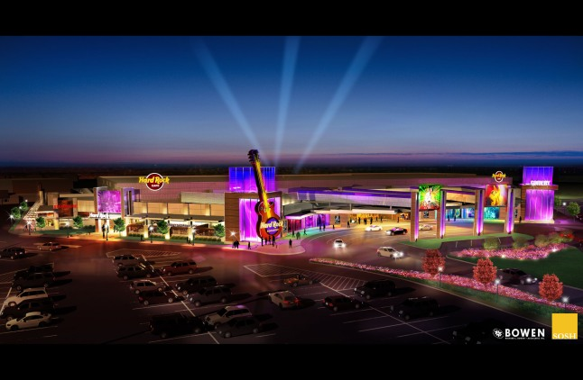 """Hard Rock International -- owner of one of the world's most recognized, iconic brands -- announces the first ever """"Rocksino,"""" its newest gaming brand, to be located in Northfield, Ohio at Northfield Park racetrack.  (PRNewsFoto/Hard Rock International)"""