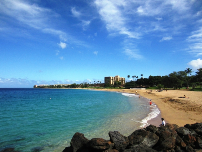 Ka'anapali Beach in Lahaina, Hawaii is the top beach in the U.S. (www.pr