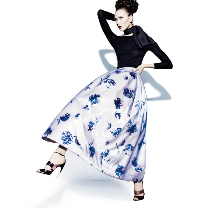 KARLIE KLOSS AND VIKA FALILEEVA FRONT NEIMAN MARCUS' ART OF FASHION SPRING 2013 CAMPAIGN 1