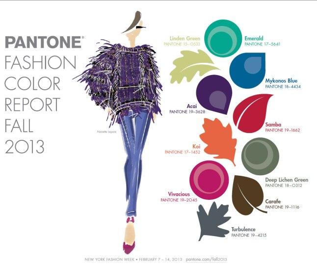 Pantone Announces Fashion Color Report Fall 2013 (Courtesy: Pantone)