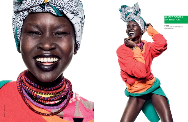 Alek Wek in the United Colors of Benetton Spring/Summer 2013 Campaign (Courtesy: www.benettongroup.com)