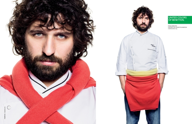 Milan-based Uruguayan chef MATÍAS PERDOMO in the United Colors of Benetton 2013 Spring-Summer Campaign (www.benettongroup.com)