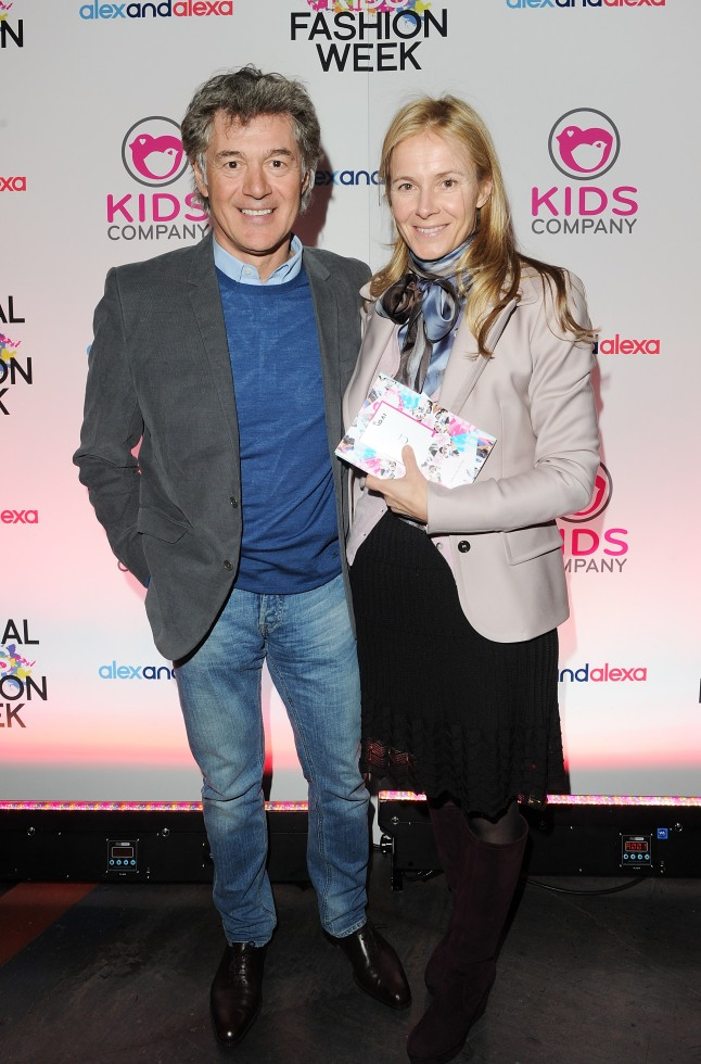 John Frieda and Julietta Dexter arrives for the Global Kids Fashion Week AW13 media and VIP show at The Freemason's Hall on March 19, 2013 in London, England. (Photo by Dave M. Benett/Getty Images for AlexandAlexa.com)