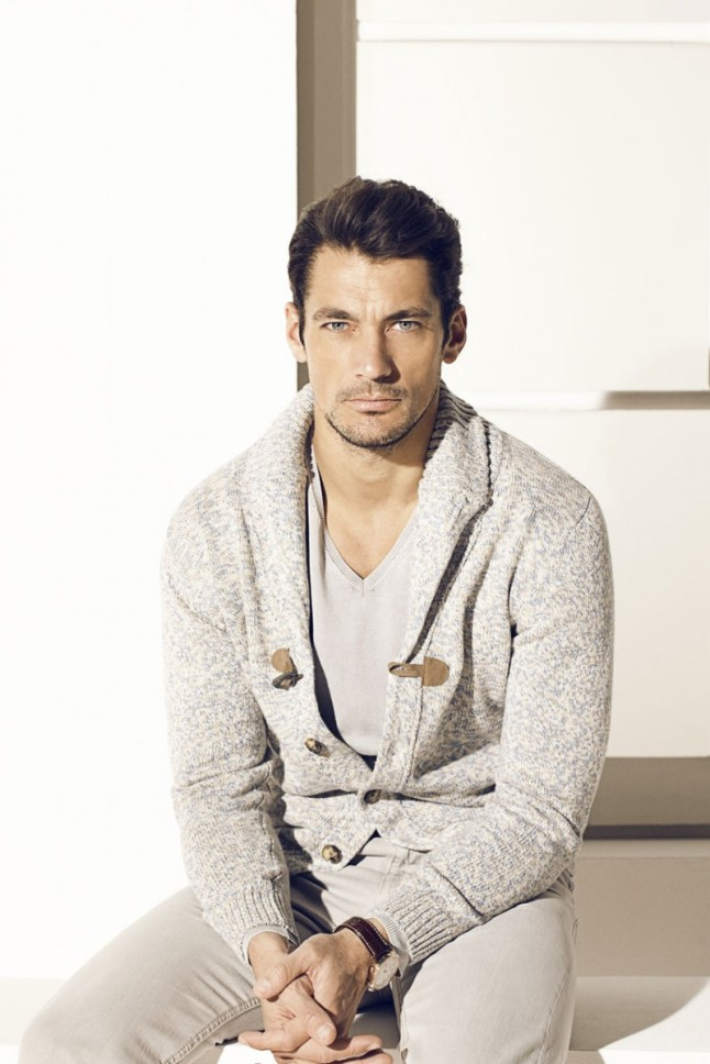 David Gandy for Massimo Dutti's March 2013 Lookbook