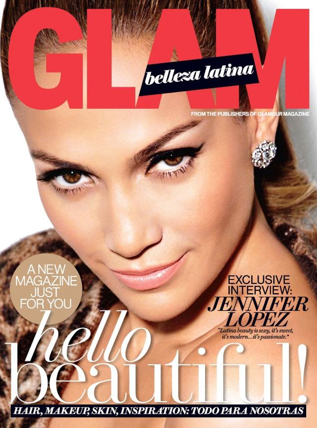 JENNIFER LOPEZ COVERS DEBUT ISSUE OF GLAM BELLEZA LATINA.  (PRNewsFoto/Glamour)