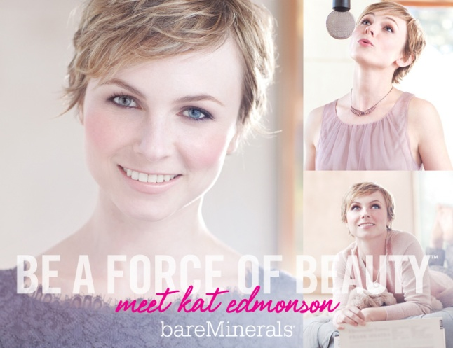 "BAREMINERALS® TAPS SINGER KAT EDMONSON AS ITS NEXT ""FORCE OF BEAUTY"" (PRNewsWire/bareMinerals)"