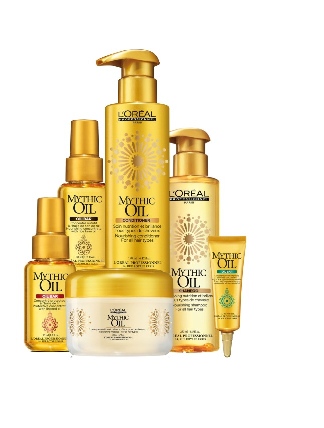 L'Oreal Professionnel In-Salon Mythic Oil Treatment Bar and Haircare Regimen.  (PRNewsFoto/L'Oreal Professionnel)