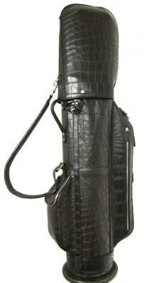 Black Alligator Luxury Golf Leather Bag (Photo Credit: Treccani Milano)