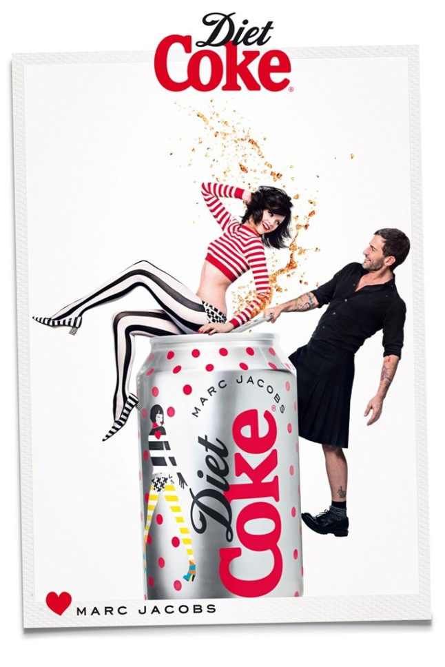 Marc Jacobs Joins Ginta Lapina for Diet Coke Campaign 1