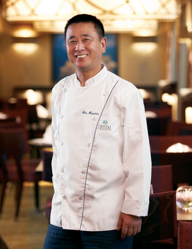 Master Chef Nobu Matsuhisa.  (PRNewsFoto/Crystal Cruises)
